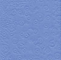 Servietten 33x33 cm - Moments uni hellblau geprägt