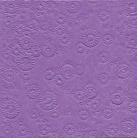 Servietten 33x33 cm - Momente uni fliederfarben geprägt