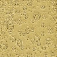 Servietten 33x33 cm - Moments uni gold geprägt
