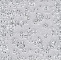 Servietten 33x33 cm - Momente Uni Silber geprägt