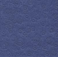 Servietten 33x33 cm - Moments uni nachtblau geprägt