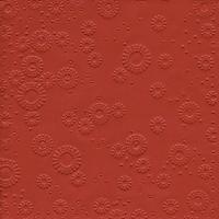 Servietten 33x33 cm - Momente Uni rubinrot geprägt