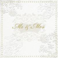 Servietten 33x33 cm - Moments Mr. & Mrs. gold