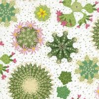 Servietten 33x33 cm - Moments Cacti