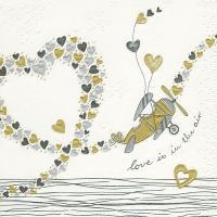 Servietten 33x33 cm - Moments Love ist in the air
