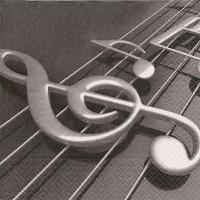 Servietten 33x33 cm - Violinschlüssel
