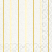 Servietten 40x40 cm - Home white/yellow