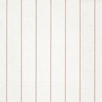 Servietten 40x40 cm - Home weiß/rosé
