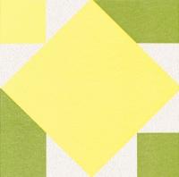 Airlaid Dinner Servietten - Origami Serviette Seerose gelb/grün