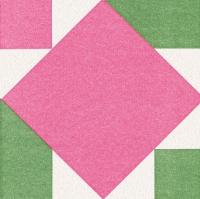 Airlaid Dinner Servietten - Origami Serviette Seerose rosa/grün
