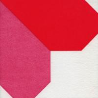 Airlaid Dinner Servietten - Origami Serviette Herz rot/rosa