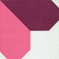 Airlaid Dinner Servietten - Origami Serviette Heart orchid/rosé