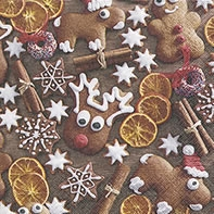 Servietten 25x25 cm - Gingerbread cookies