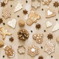 Cocktail Servietten Christmas cookies