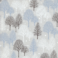 Servietten 25x25 cm - Winter trees