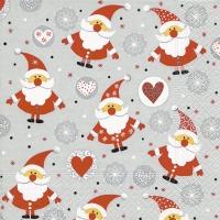 Servietten 25x25 cm - Lustige Weihnachtsmänner