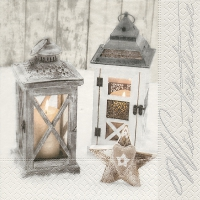 Servietten 33x33 cm - Wooden lanterns