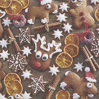 Servietten 33x33 cm - Gingerbread cookies