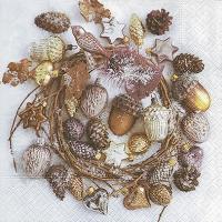 Lunch Servietten Decorated wreath