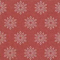 Servietten 33x33 cm - Starry red