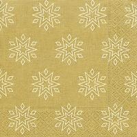 Servietten 33x33 cm - Starry gold