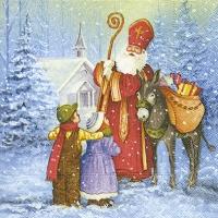 Lunch Servietten Saint Nicholas