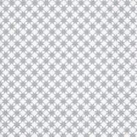 Servietten 33x33 cm - Sternenmuster silber
