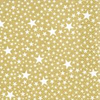 Servietten 33x33 cm - Starlets gold