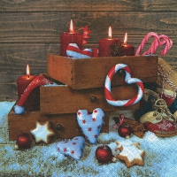 Servietten 33x33 cm - Xmas in the box