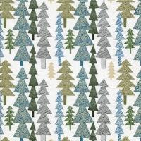 Servietten 33x33 cm - Structured trees