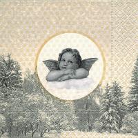 Servietten 33x33 cm - Der berühmte Engel