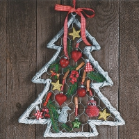 Servietten 33x33 cm - Handicraft tree