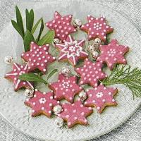 Servietten 33x33 cm - Pink cookies