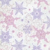 Servietten 33x33 cm - Delicate stars rosé