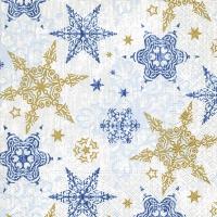 Servietten 33x33 cm - Delicate stars blue