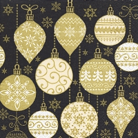 Servietten 33x33 cm - Baubles with pattern