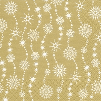 Servietten 33x33 cm - Chrystal waves gold