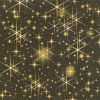 Servietten 33x33 cm - Glittering stars