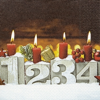 Servietten 33x33 cm - Four candles