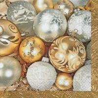Servietten 33x33 cm - Feine Weihnachtskugeln