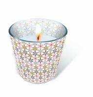 Glaskerze - Flower net