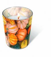 Glaskerze Pumpkin decoration