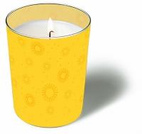 Glaskerze - Momente uni gelb