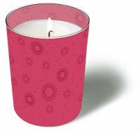 Glaskerze - Momente uni rosa