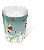 Glaskerze - Glaskerze Hovering Santa