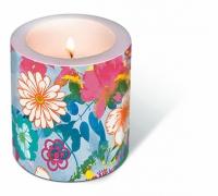 Dekorkerze - Bemalte Blüten