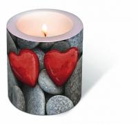 Dekorkerze - Liebessteine