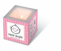 Dekorkerze - Neu Baby rosa
