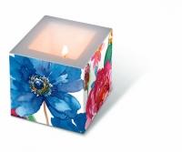 Dekorkerze - Aquarell Blumen