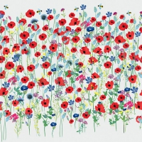 Servietten 33x33 cm - Harmony poppies